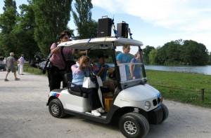 Golf Caddy für mobile Beschallung, Sponton